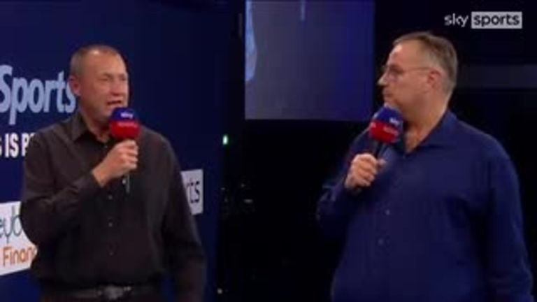 Wayne Mardle and John Part debate whether Clayton can defeat No. 1 Price in the World Grand Prix final