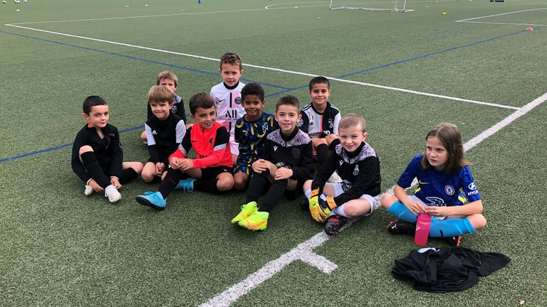 Eduardo Camavinga continues to inspire youngsters at his childhood club AGL-Drapeau Fougeres