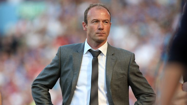 Alan Shearer during the Barclays Premier League match between Aston Villa and Newcastle United at Villa Park, on May 24, 2009, in Birmingham, England.