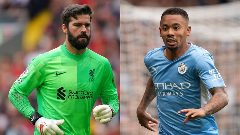Alisson and Gabriel Jesus could be missing for their clubs this weekend