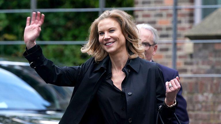 Financier Amanda Staveley arrives at Jesmond Dene House
