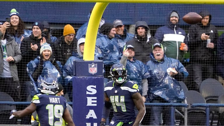 DK Metcalf's career-high 84-yard touchdown saw Seattle take an early lead over New Orleans.