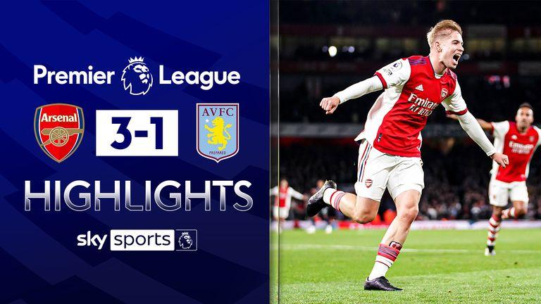 Arsenal v Aston Villa highlights