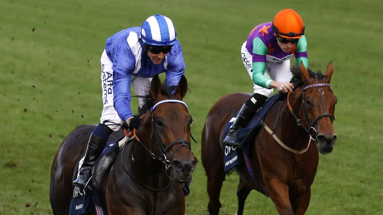 Baaeed and Jim Crowley win the QEII at Ascot on Champions Day