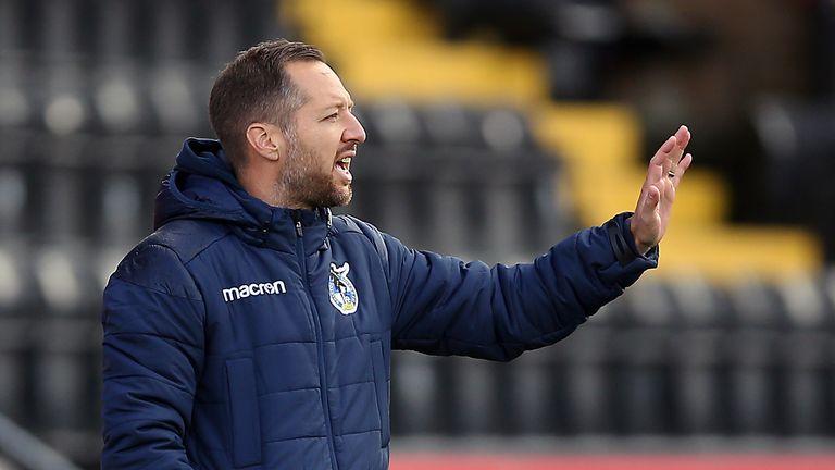 Swindon Town head coach Ben Garner
