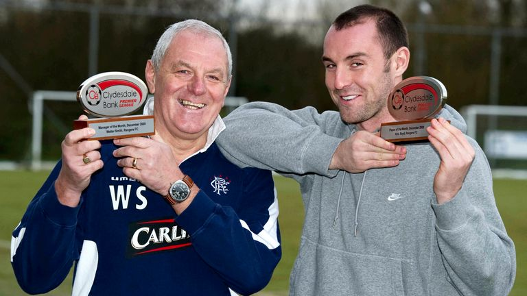 15/01/10.MURRAY PARK - GLASGOW.Rangers ace Kris Boyd is delighted to be named the Clydesdale Bank Premier League Player of the Month for December alongside Clydesdale Bank Premier League Manager of the Month Walter Smith