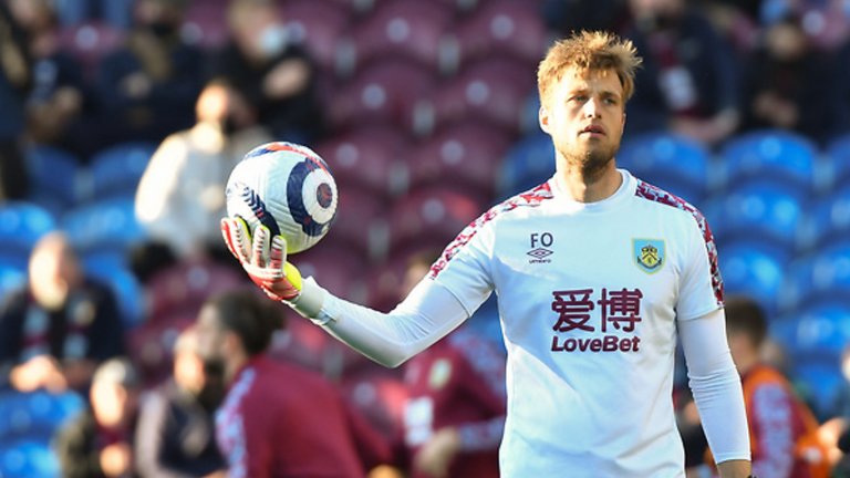 Fabian Otte during his time as a goalkeeper coach at Burnley