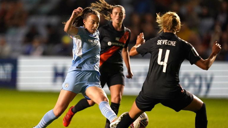 Weir weaves her route to goal for the opener