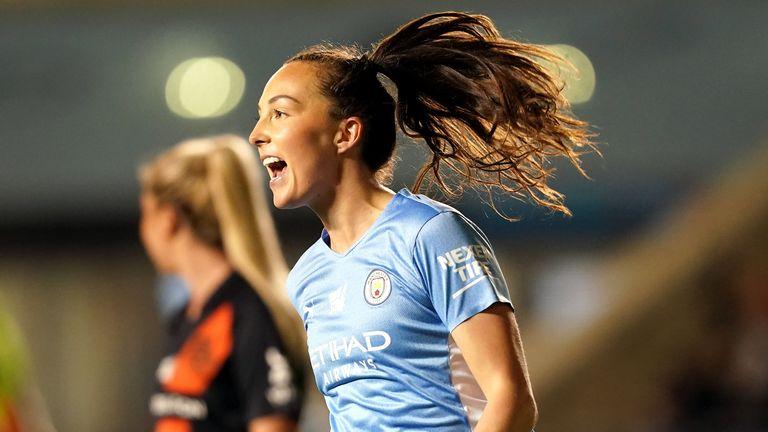 Caroline Weir helped Man City Women beat Everton