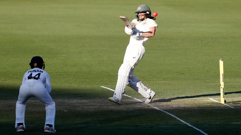 Ellyse Perry is the first Australian woman to score four successive Test fifties