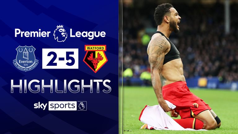 King scores hat-trick as Everton stunned