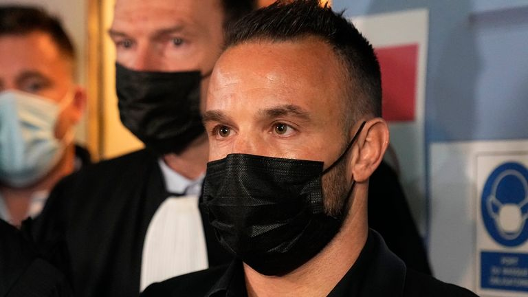 Mathieu Valbuena leaves the courtroom