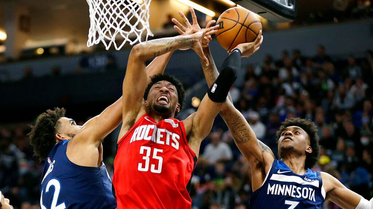 Highlights of the Houston Rockets against the Minnesota Timberwolves in Week 1 of the NBA.