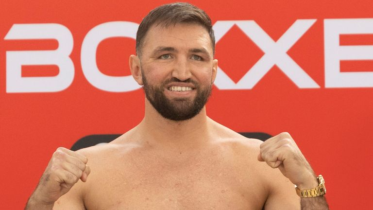 CHAMPIONSHIP BOXING WEIGH IN.METRO CENTRE,.NEWCASTLE.PIC;LAWRENCE LUSTIG.International Heavyweight Contest .HUGHIE FURY and  CHRISTIAN HAMMER. WEIGH IN BEFORE THEIR CONTEST ON BOXXER PROMOTIONS NIGHT OF CHAMPIONSHIP BOXING AT THE UTILITA ARENA,NEWCASTLE ON SATURDAY(16-10-21)