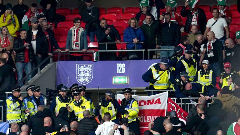 PA - Hungary fan trouble at Wembley
