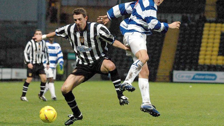 Ian Baraclough in action for Notts County in 2003