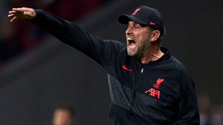 Jurgen Klopp during Liverpool's 3-2 win at Atletico