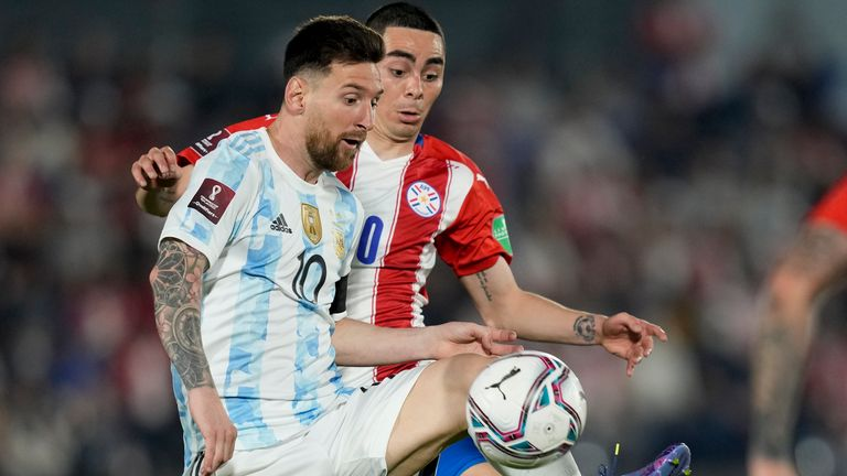Lionel Messi featured in Argentina's draw with Paraguay