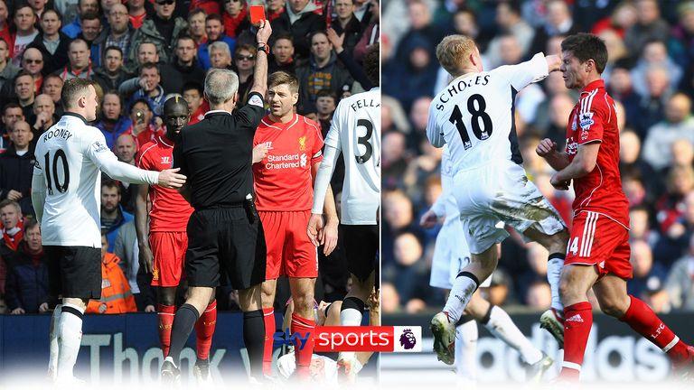 Man Utd v Liverpool worst red cards