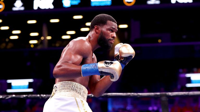 Marcus Browne in action during his boxing match, Saturday, August 3rd, 2019, in Brooklyn. (AP Photo/Gregory Payan)
