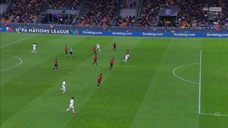 Mbappe was standing in an offside position