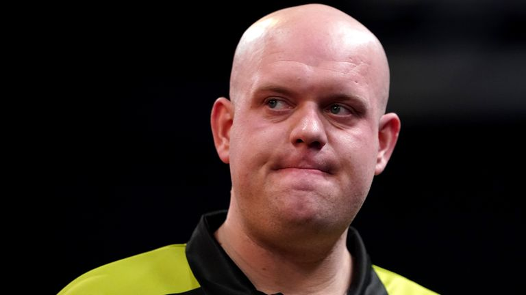Danny Noppert accused Michael van Gerwen (pictured) of stamping on the floor every time Noppert was aiming for a double