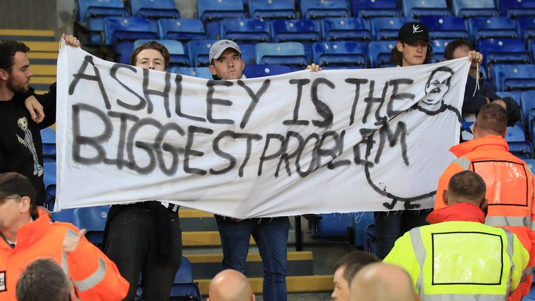 Newcastle United supporters express their view on owner Mike Ashley