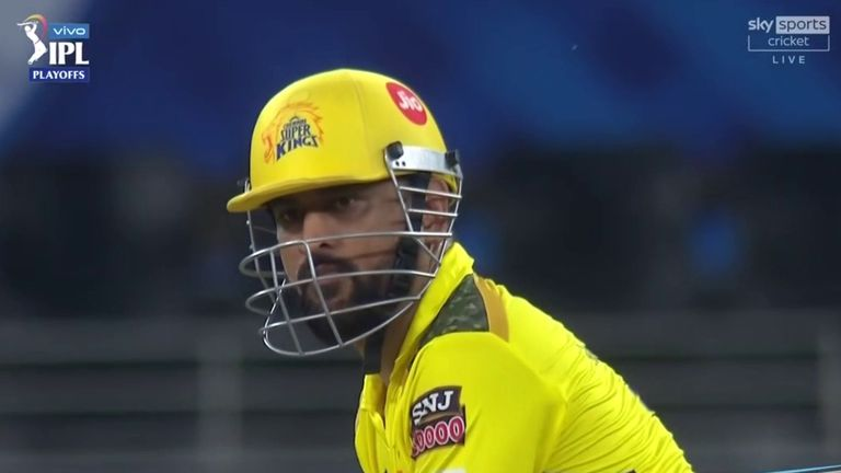 MS Dhoni guided Chennai Super Kings into the IPL final with three fours in the last over to beat Delhi Capitals