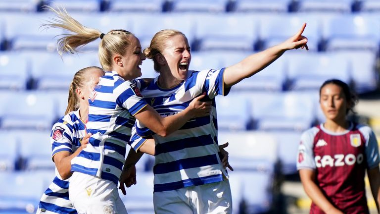 Reading's Natasha Dowie (right) was also on target