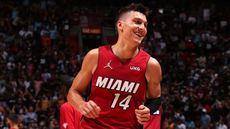 Tyler Herro had 27 points, 6 rebounds, 5 assists and shot 10-18 from the floor to inspire the Miami Heat's demolition of the reigning NBA champions