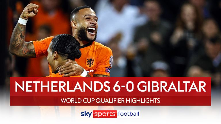 Nizozemsko 6-0 Gibraltar