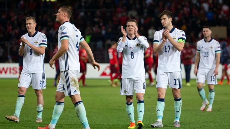 Northern Ireland's players great their supporters after losing