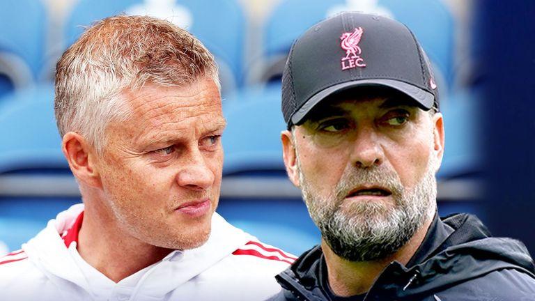 Manchester United manager Ole Gunnar Solskjaer and Liverpool manager Jurgen Klopp
