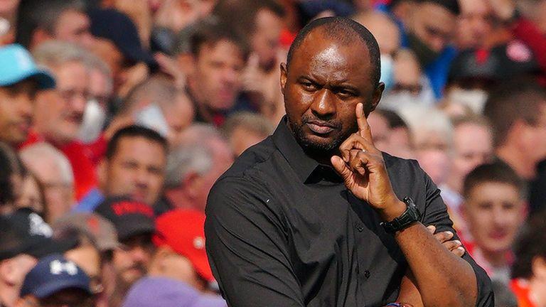 Crystal Palace manager Patrick Vieira