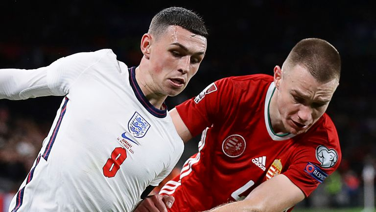 Phil Foden played alongside Mason Mount and Declan Rice in midfield
