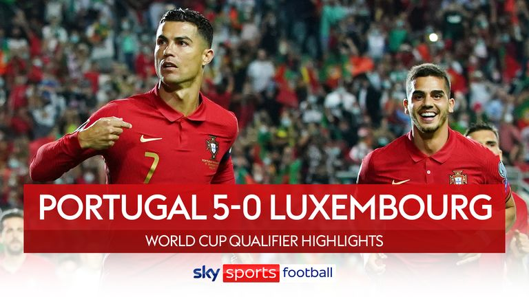 Cristiano Ronaldo nets hat-trick as Portugal thrash Luxembourg - World Cup  Qualifiers round-up   Football News   Sky Sports