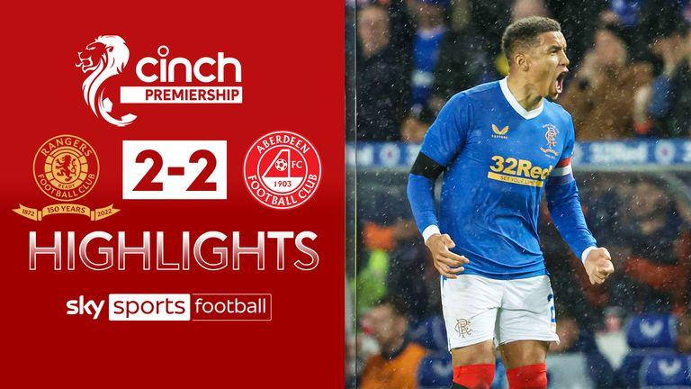 Rangers 2-2 Aberdeen