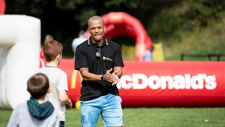 Rob Earnshaw at a McDonald's fun football event in Cardiff Castle, Cardiff, Wales, UK. September 18th 2021.