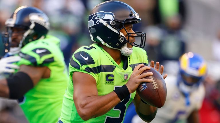 Seattle Seahawks quarterback Russell Wilson came out of the game in the third quarter with an injury to his middle finger