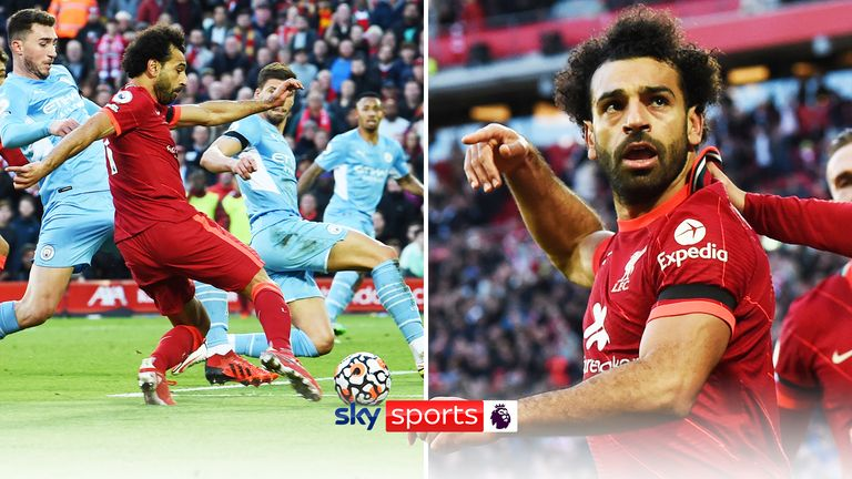 Salah goal v Man City