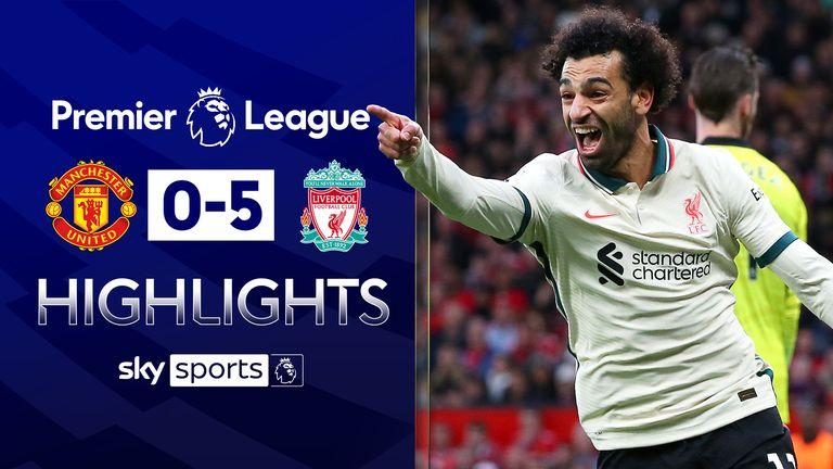 Salah hits hat-trick as Liverpool crush Man Utd