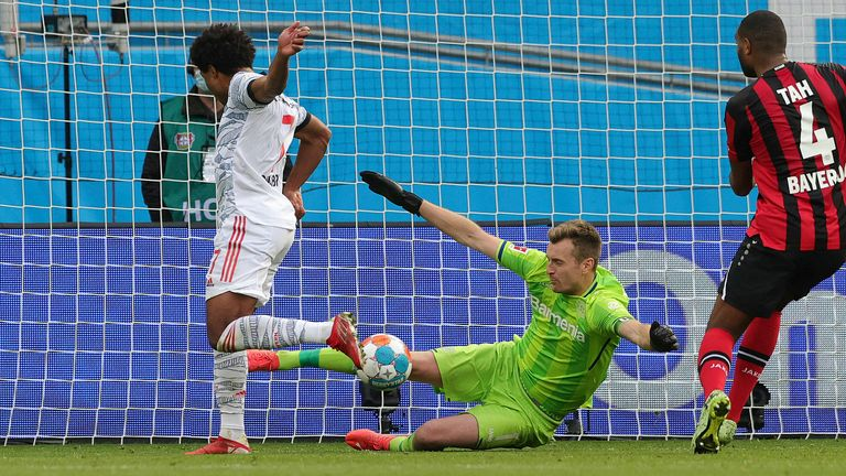 Serge Gnabry completed Bayern's scoring with their fifth after just 37 minutes