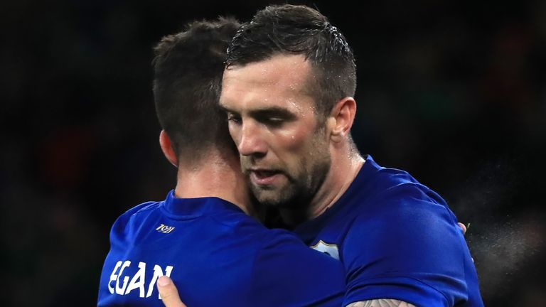 Shane Duffy scored the fourth goal for the Republic of Ireland