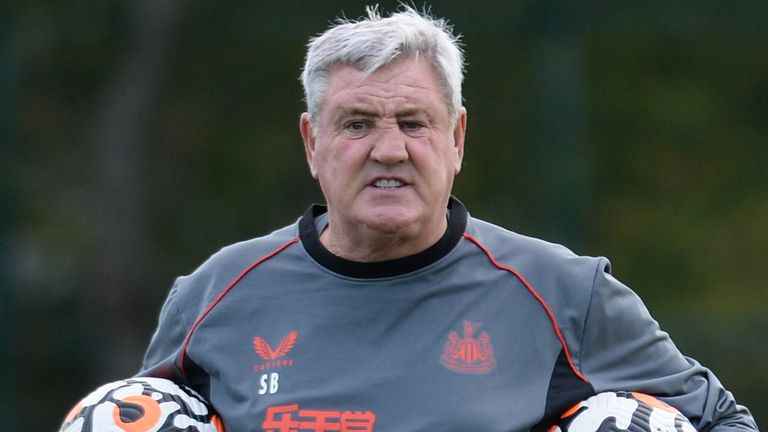 File Pic: Steve Bruce takes training at the Newcastle United's training facility
