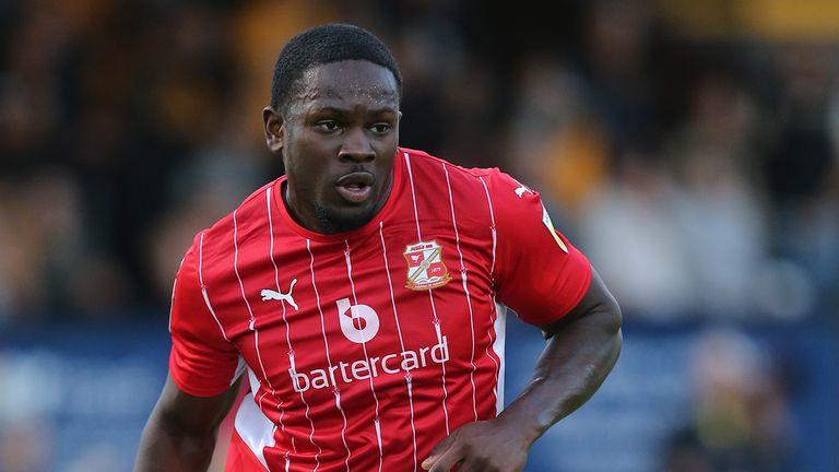 Ipswich striker Tyreece Simpson is on loan at Swindon