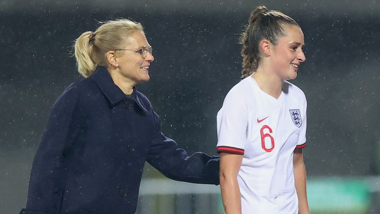 Ella Toone scored a hat-trick in England's 10-0 win in Latvia - the Lionesses have now scored 32 goals in four games under Sarina Wiegman