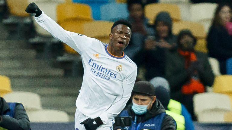 Vinicius Junior scored twice as Real Madrid beat  Shakhtar Donetsk 5-0