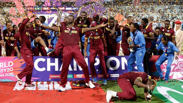 West Indies beat England by four wickets with just two balls remaining in the 2016 final
