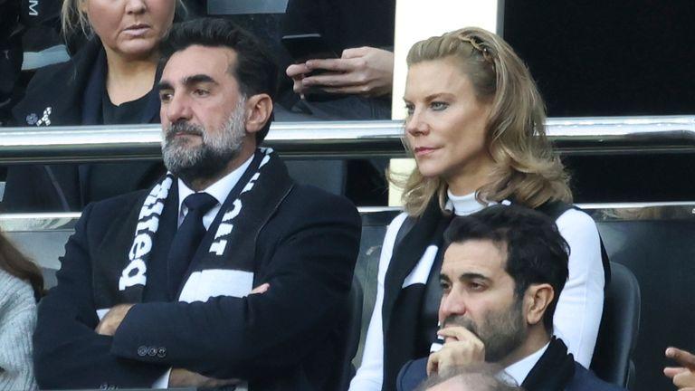Newcastle United chairman Yasir Al-Rumayyan and part-owner Amanda Staveley attend the club's Premier League match against Spurs (Simon Bellis/CSM via ZUMA Wire)